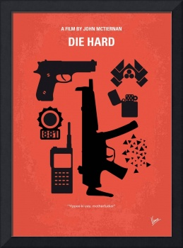 No453 My Die Hard minimal movie poster