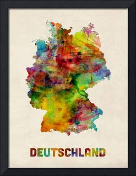 Germany Watercolor Map (Deutschland)