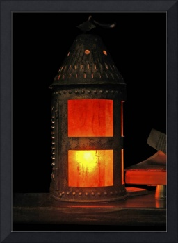 Glowing Antique Tin Lantern