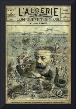 Vintage Jules Verne Periodical Cover