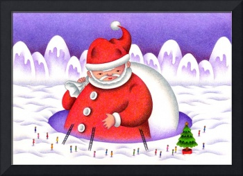 Christmas images - Present of big Father Christmas