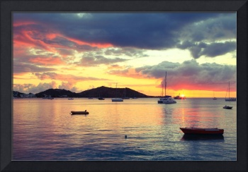 Harbor Sunset at Grand Case, St. Martin