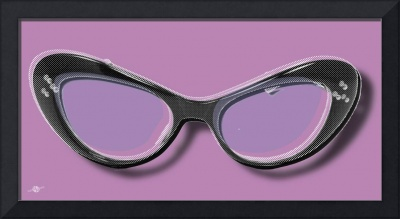 Retro Glasses Funky Pop Purple