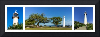 Grand Old Lighthouse Biloxi MS Collage A1e