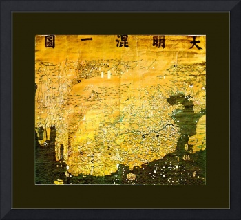 Da Ming Hun Yi Tu 1389 Chinese World Map Enhanced