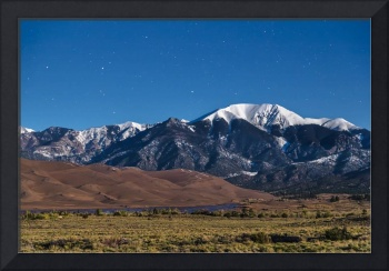 Moon Lit Colorado Great Sand Dunes Starry Night