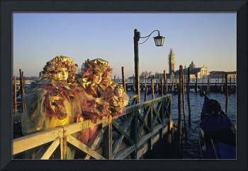 Two People in Carnival Masks, Venice (Italy)