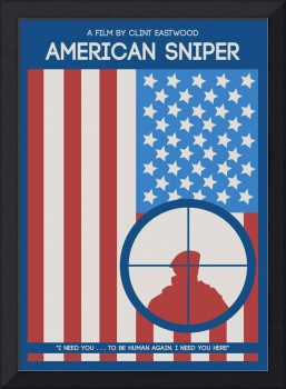 American Sniper Minimalist Movie Poster
