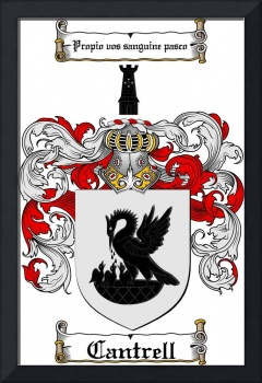 CANTRELL FAMILY CREST -  CANTRELL COAT OF ARMS