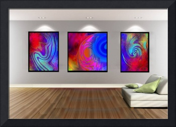 Livingroom 4 Home Decor Digital Abstracts