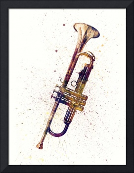 Trumpet Abstract Watercolor