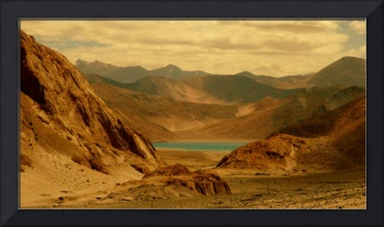 Pangong between mountains!