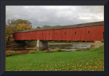 West Montrose Covered Bridge Kissing Bridge Autumn