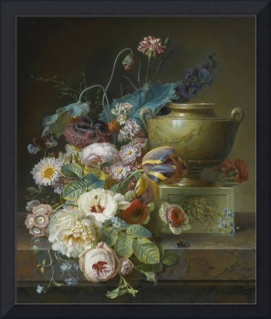 Christiaen van Pol (Dutch, Still life of roses, tu