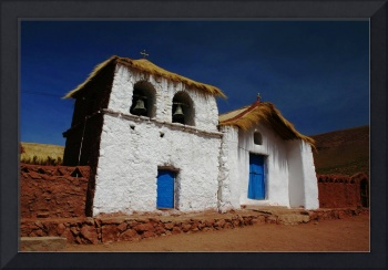 Highland curch, San Pedro de Atacama, Chile