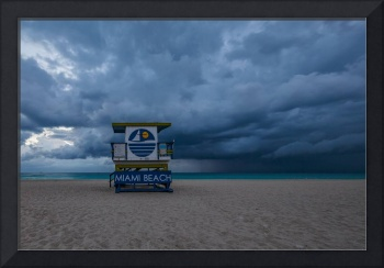 Stormy Beach Day ~ 5th Street Lifeguard Tower