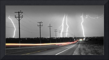 Green Light Into The Storm Panorama