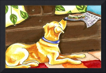 Yellow Lab Temptations Off-Leash Art™