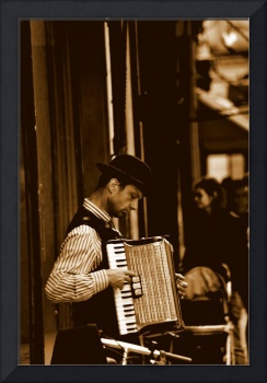 Old french street performer