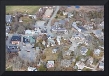 Downtown Chatham, Cape Cod Aerial