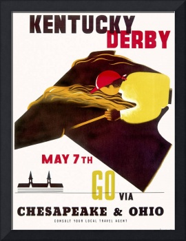 Kentucky Derby Vintage Horse Racing Poster