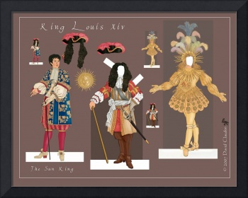 Louis the Sun King, a paper doll set