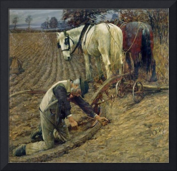 Henry Herbert La Thangue - The Last Furrow