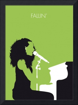 No066 MY ALICIA KEYS Minimal Music poster