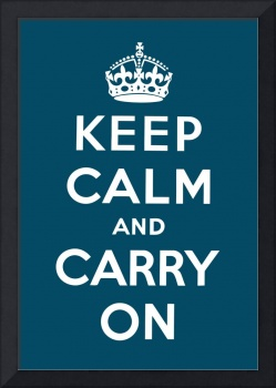 Blue Keep Calm And Carry On 3