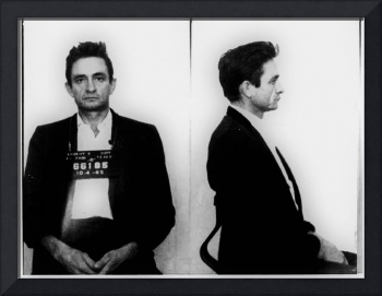 Johnny Cash Mug Shot Horizontal