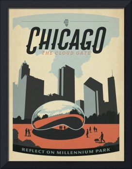 The Cloud Gate, Chicago, Illinois - Retro Travel P