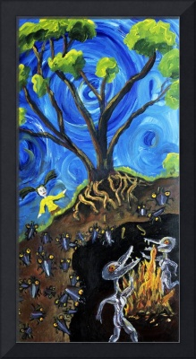 Hylozoic Triptych (Left Panel): Thuy and the Subb