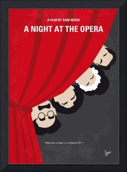No1053 My A Night at the Opera minimal movie poste
