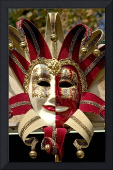 The Jooker. Mens masquerade mask. Venice
