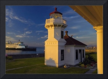 Sunset at Mukilteo lighthouse
