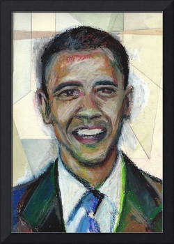 Elect Barack Obama in 2008! Oil Pastel