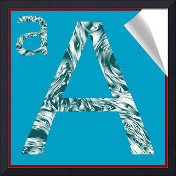 alphabet letter A sticker
