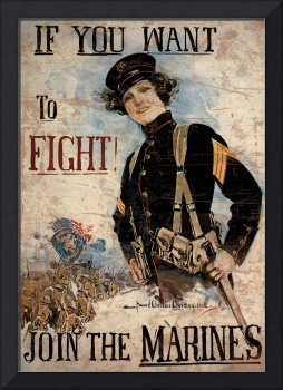 If You Want To Fight Join The Marines 1