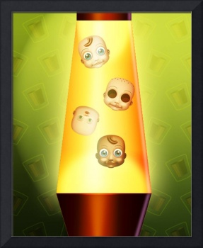 Baby Doll heads in Lava Lamp