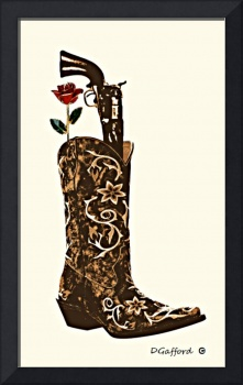 Rose & Gun in Boot