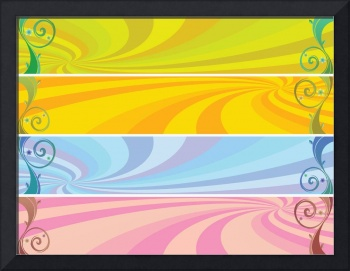 colored headers background