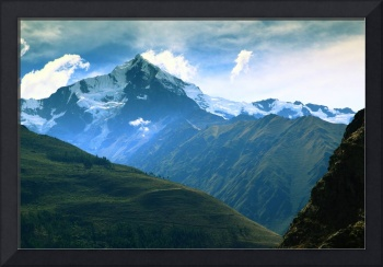 Snow Capped Andean Mountain landscape in Peru