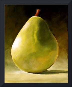 GREEN PEAR STILL LIFE