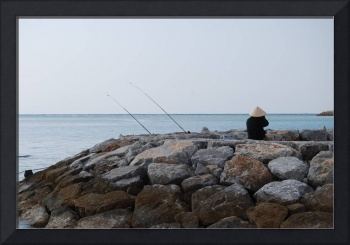 Fisherman at Araha Beach