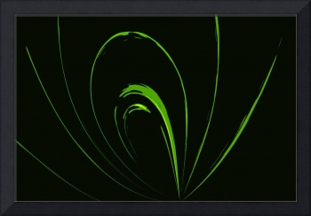Emerald Green Abstract