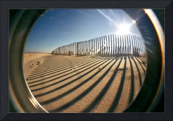 Lomo Fisheye Snow Fence