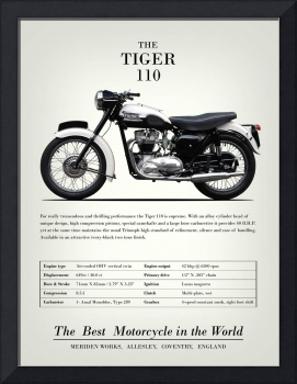 The Tiger 110 Vintage Advert 1959
