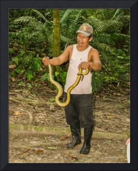 Man with a Snake