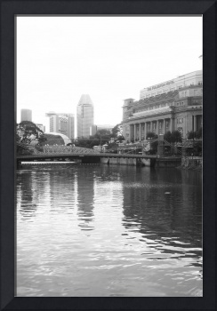 Singapore River,black/white, Singapore