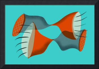 Abstract: Mid Century Modern Trumpets 1